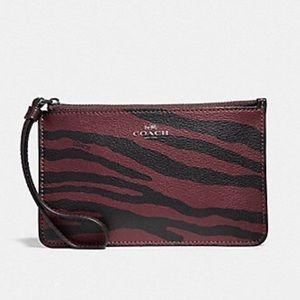 Coach F39094 Tiger Print Slim Wallet Wristlet NWT